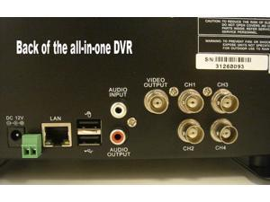 4 Channel All-in-one Digital Video Recordeing H.264 Surveillance System