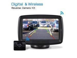 Auto-Vox TD-2 Digital Wireless Backup Camera Kit, Rear view Camera kit with 4.3'' TFT Monitor. Waterproof IP 68 Digital Camera with good Night Vision Display Guide Lines For Car/SUV/Van 12V/24V