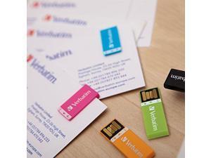 Verbatim 98674 8GB Clip-it USB Drives, 3 pk