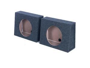 "QPower QTW10 Single 10"" Sealed Car Audio Subwoofer Sub Box Enclosures (2 Pack)"