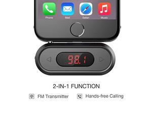 FM Transmitter, Doosl® FM Transmitter Hands-free Calling Wireless Audio Radio Adapter Car Kit with 3.5mm Jack for iPhone 6 6 Plus 5S 5C Samsung Galaxy S6 S6 Edge S5 S4 and Other Audio Players.