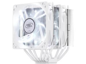 DEEPCOOL 6 Heatpipes CPU Cooling Fan with White LED, Twin Heatsinks and 120mm Silent Fans, NEPTWIN WH