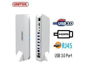 UNITEK Docking Station Hub 6 Port USB 3 + 1080P HDMI + LAN RJ45 Ethernet Adapter