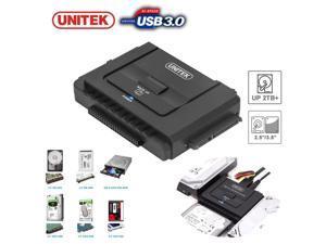 "Unitek USB 3.0 to 2.5"" 3.5"" 5.25"" in SATA IDE Hard Drive Adapter Converter Clone"
