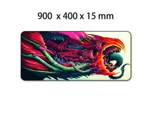 Game 900x400mm Hyper Beast XL Large Locking Edge Gaming Mouse Pad CS GO Keyboard Rubber Mousepad Wrist Rest Table Computer Mat