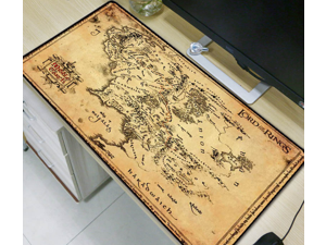 lord of the rings map Extended Gaming Mouse Pad Mat Stitched Edges Waterproof Wide & Long Rubber Mousepad Keyboad Mat