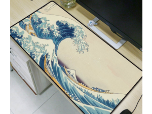 Wave Speed Large Gaming Mouse Pad Mousepad Mat Anti-slip Rubber Cloth Keyboard Office Desk Pad Computer Gamer Game Mat