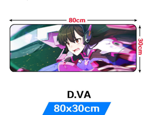 """Overwatch Extra Large Gaming Mouse Pad Anime D.VA Mouse Mats Non-Slip Mousepad Mousepad for Laptop & PC (31.5""""x11.8""""x0.12""""inch)"""