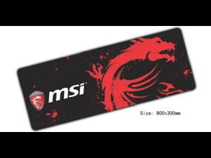 Msi mouse pad 800x300x3mm mouse mat laptop padmouse locked edge notbook computer gaming mousepad gamer play mats