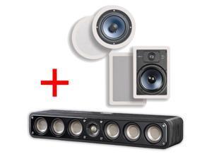Polk Audio Signature Series S35 Ultra-Slim Hi-Res Center Channel Speaker + Polk RC60i & RC85i Bundle