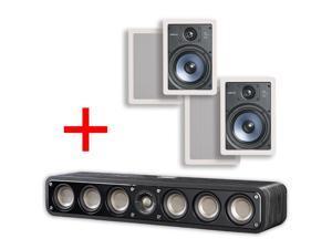 Polk Audio Signature Series S35 Ultra-Slim Hi-Res Center Channel Speaker + Polk RC65i Bundle (2 Pairs)