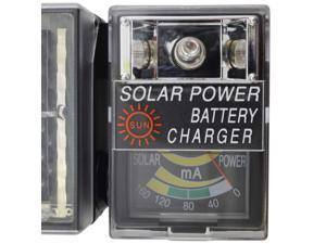 Solar Battery Charger with Sunlight Strength Meter and Built-in Light - Charges C, AA and AAA Batteries