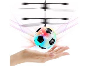 Magic Flying Hover Soccer Ball with Colorful Lights, Fun Helicopter Gadget Toy Hovers Above Your Hand by Infrared Induction, Suitable for Indoor and Outdoor Use, USB Rechargeable