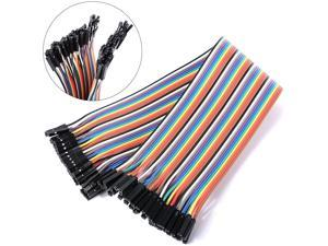 """40 Pin Female To Female Dupont Jumper Wire Cable, 8"""" Long"""