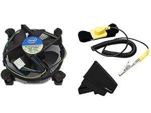 Original Intel Core i3/i5/i7 Socket 1150/1151/1155/1156 4-Pin Connector CPU Cooler + Anti Static Wrist Strap w/adjustabl