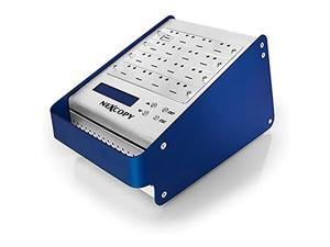 Nexcopy mSD115SA - 16 Port Standalone microSD Duplicator 1 Master to 15 Target Configuration, no PC required, 110/220 switching power