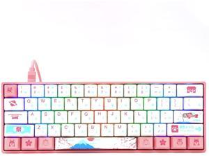 EPOMAKER AKKO 3061 R2 World Tour Tokyo 61 Keys RGB 60% Wired Mechanical Keyboard with PBT Japanese Keycaps, NKRO for Gamers/Mac/Win (Gateron Orange Switch, 61 Japanese Keys)