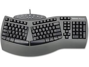 Fellowes 98915 Keyboard,Split Design,Microban,19-1/4-Inch x9-3/4-Inch x2-1/4-Inch,Black
