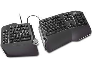 Cloud Nine C989 Ergonomic Mechanical Keyboard for PC - Cherry MX Red Switches - RGB Light Up LED Backlit with USB - Ergo Split Key Board with Macro