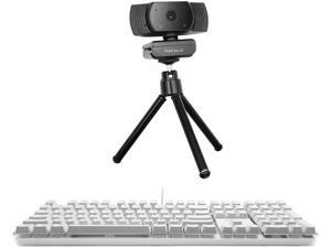 Macally Backlit Keyboard for Mac and a 1080P Webcam with Microphone and Tripod, Exactly What Your Desktop Needs