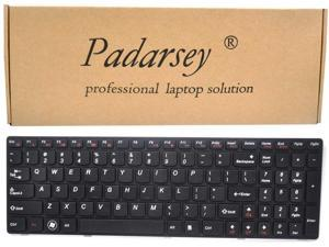 Padarsey Replacement Keyboard with Frame Compatible for Lenovo Ideapad G580 G580A G585 G585A V580 V585 Z580 Z580A Z585 Z585A Series Black US Layout