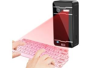 Virtual Wireless Bluetooth Portable Projection Keyboard Table Virtual Keyboard for Ipad Smartphone and Tablets (Black)