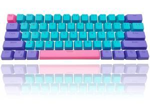 GTSP 61 Keycaps 60 Percent, Ducky One 2 Mini Keycaps of Mechanical Gaming Keyboard OEM Profile RGB PBT Keycap Set with Key Puller for Cherry MX Switches GK61/RK 61/Anne pro 2/Joker (Only keycaps) Blue