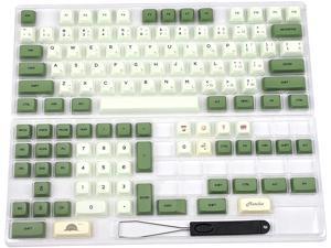 Corn Matcha Dye Sub ZDA PBT Keycap Similar to XDA Japanese Korean Russian for MX Keyboard 104 87 61 Melody 96 KBD75 ID80 GK64 Tada68(Only Keycap) (Japanese)