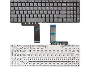SUNMALL Keyboard Replacement Compatible with Lenovo Ideapad 3-15ADA 3-15ARE 3-15IGL 3-15IML 330S-15ARR 330S-15AST 330S-15IKB S340-15API S340-15IWL.V130-15IGM V130-15IKB US Layout Grey No Frame