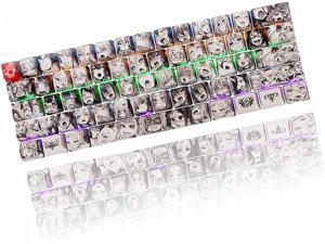 Anime Keycaps 60 Percent, 108 Japanese Keycaps Full Set 87 Kawaii Key Cap Cover of 5-Side Dye Sublimation OEM Profile for Cherry Mx Gateron Kailh Switch Ducky one 2 Mini/Anne pro 2 Keyboard DIY