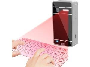 Virtual Wireless Bluetooth Portable Projection Keyboard Table Virtual Keyboard for Ipad Smartphone and Tablets (Sliver)