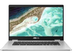 "Asus Chromebook  15.6"" (1920x1080) NanoEdge BT Celeron Dual-Core N3350 4GB RAM 64GB eMMC 1.1GHz CHROME OS Webcam SILVER"