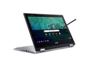 "Acer Convertible Spin 311 Chromebook 11.6"" 1366 x 768 Touchscreen Intel Celeron 4GB RAM 64GB eMMC 2.6 GHz Silver Chrome OS"