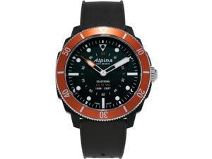 Alpina Men's AL-282LO4V6 Smart Watch, Black