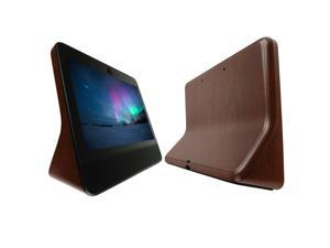 Facebook Portal Screen Protector + Dark Wood Full Body (10.1), Skinomi TechSkin Dark Wood Film for Facebook Portal with Anti-Bubble Clear Film Screen