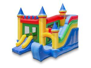 Cloud 9 Commercial Grade Castle Bounce House with Slide - 100% PVC 16' x 17' Bouncer - Inflatable Only