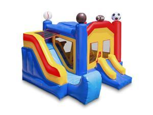 Cloud 9 Commercial Grade Sports Bounce House with Slide - 100% PVC 18' x 17' Bouncer - Inflatable Only