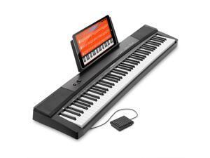 Hamzer 88-Key Electronic Keyboard Portable Digital Music Piano with Touch Sensitive Keys