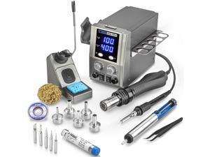X-Tronic 6040-PRO-X • Platinum Series • 700 Watt • Hot Air Rework Soldering Iron Station • Digital Temp Controls, C/F Func, 0-30 Min Sleep, Auto Cool Down, Mute/Unmute Sound & Patented Nozzle Holder!