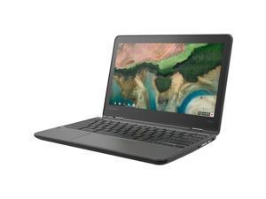 "Lenovo 300e Chromebook 2nd Gen 81MB0067US 11.6"" Touchscreen Rugged 2 in 1 Chromebook - HD - 1366 x 768 - Intel Celeron N4020 Dual-core (2 Core) 1.10 GHz - 4 GB RAM - 32 GB Flash Memory - Black -"