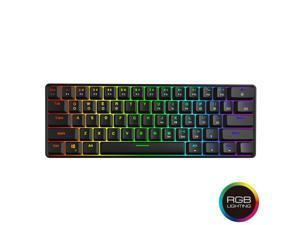 GK61 Mechanical Gaming Keyboard - 61 Keys Multi Color RGB LED Backlit Wired Gaming Keyboard,for PC/Mac Gamer, Typist
