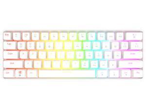 GK61 Mechanical Gaming Keyboard - 61 Keys Multi Color RGB LED Backlit Wired Gaming Keyboard,for PC/Mac Gamer, Typist