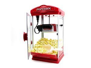 Paramount Popcorn Maker Machine - New 8oz Capacity Hot-Oil Popper [Color: Red]