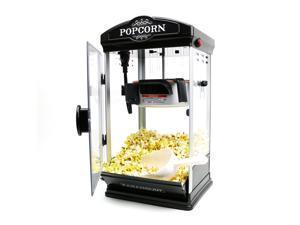 Paramount Popcorn Maker Machine - New 8oz Capacity Hot-Oil Popper [Color: Black]