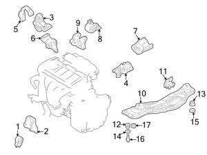mazda engines engine parts performance performance parts Mazda 3 Hatchback mazda oem engine cradle insulator