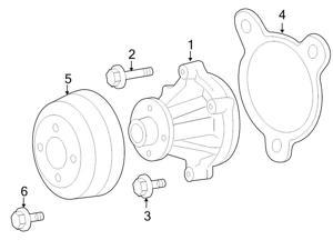 ford engine cooling climate control replacement parts Crossfire Engine Diagram ford oem engine water pump