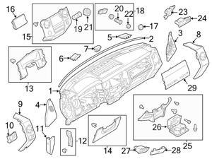 Ford covers interior interior accessories automotive ford oem instrument panel trim fandeluxe Gallery