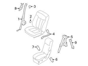 ford safety interior newegg Ford E-350 ford oem seat belt lap and shoulder