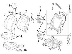 ford seat covers accessories newegg Ford Factory Door Code Lock ford oem seat back cover fr3z6364417dc
