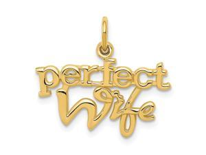 14K Yellow Gold Perfect Wife Charm